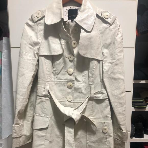Nanette Lepore Jackets & Blazers - White Trench Coat